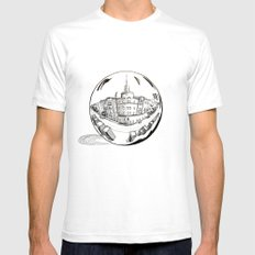 City in a glass ball SMALL White Mens Fitted Tee