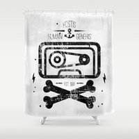 tape Shower Curtains featuring Pirate Tape by melted