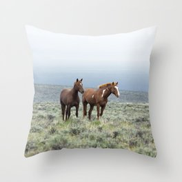 Wild Horses - Steens No. 1 Throw Pillow