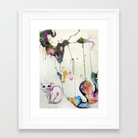 mew Framed Art Prints featuring Mew by Shannon Gordy