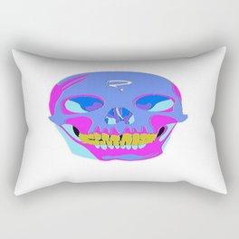 Neon Pixel Psychaedelic Halloween Skull  Rectangular Pillow