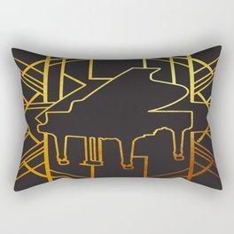 Art Deco Piano Rectangular Pillow