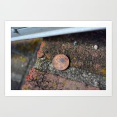 Find a penny heads up all day you'll have good luck! Art Print