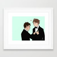 suits Framed Art Prints featuring Suits! by Kukidou