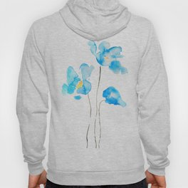 abstract Himalayan poppy flower watercolor Hoody