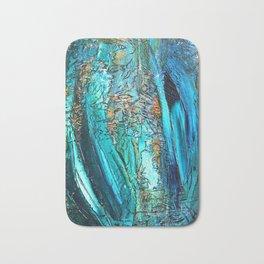 Doodle in blue Bath Mat
