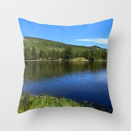 Blue Tones of Sprague Lake Throw Pillow