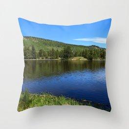 Blue Tones of Sprague Lake Throw Pillow