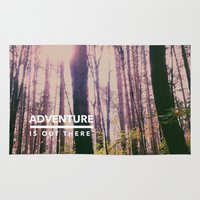 adventure is out there Area & Throw Rugs featuring Adventure Is Out There by Olivia Joy St.Claire - Modern Nature / T