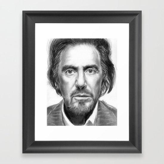 Al Pacino Portrait Framed Art Print