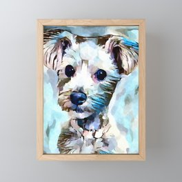 Schnoodle 3 Framed Mini Art Print