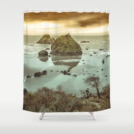 California Ocean West Coast Shower Curtain