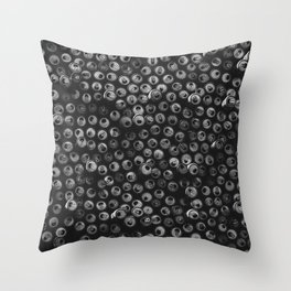 Black and white soda cans pattern Throw Pillow