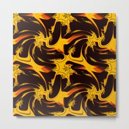 Autumn Fire Fractal Metal Print