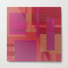 Pink red pacifrc , patchwork Metal Print