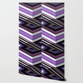 Abstract Lined Purple Wallpaper