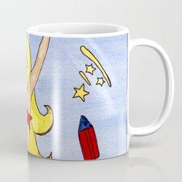 Firecracker Mermaid by Laurie Leigh Happy 4th of July America! Coffee Mug