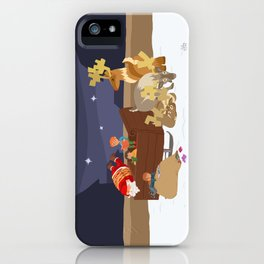 Kidnapping Santa iPhone Case