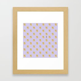 Hachikō, the legendary dog pattern Framed Art Print