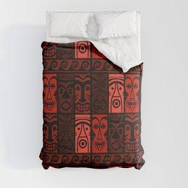 Lava Red Tikis! Comforters
