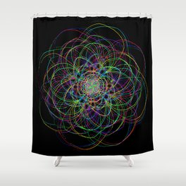 looping lines Shower Curtain