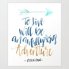 Peter Pan Life Art Print