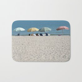 Bald Head Island Beach Umbrellas | Bald Head Island, North Carolina Bath Mat