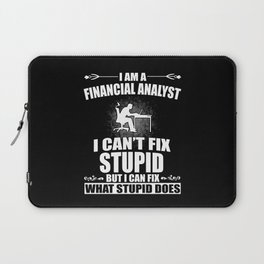 Financial Analyst Saying Gift Laptop Sleeve