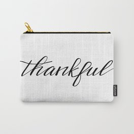 Thankful Calligraphy Carry-All Pouch