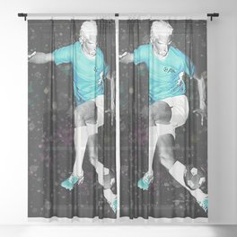 Footballer - Fine Footwork - Negative Sheer Curtain