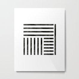 Black Geometric Metal Print