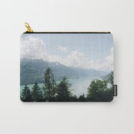 Photo of the view over Lake Brienz (the Brienzersee), Suisse | Colorful travel photography | Carry-All Pouch