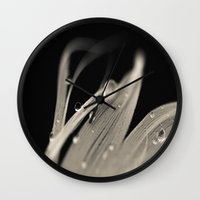 feather Wall Clocks featuring Feather by Dora Birgis