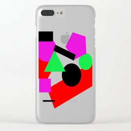 Basic Shapes Clear iPhone Case