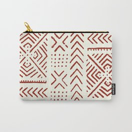 Line Mud Cloth // Ivory & Burgundy Carry-All Pouch