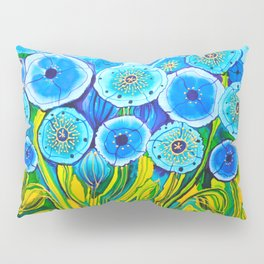 Field of Blue Poppies #1 Pillow Sham