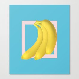 Pop Bananas Canvas Print