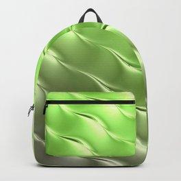 Lime Green Satin Ripple Backpack