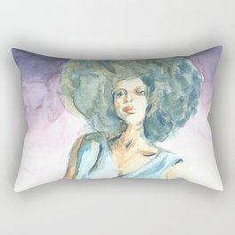 Green lady Rectangular Pillow