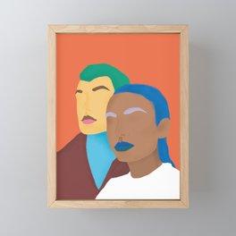 Humains Framed Mini Art Print