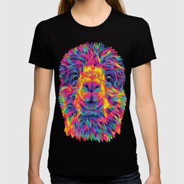 A Silly Rainbow Alpaca T-shirt