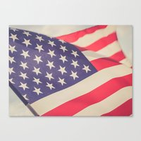american flag Canvas Prints featuring American Flag by Leah M. Gunther Photography & Design