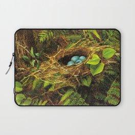 Still Life with Robin's Nest by Fidelia Bridges Laptop Sleeve