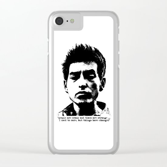 Bob Dylan Things Have Changed Clear iPhone Case