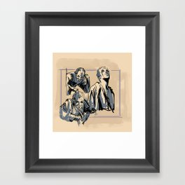 Floki Sketches 2 Framed Art Print