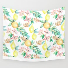 Flowers and Fruits Wall Tapestry