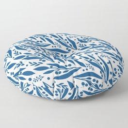 Blue twigs Floor Pillow