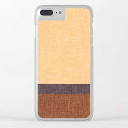 Simple Stripe Abstract with Burlap Pattern Clear iPhone Case