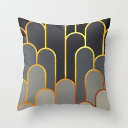 Art Deco Looking For Clues Throw Pillow
