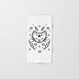 Mystic Cat - Black Hand & Bath Towel